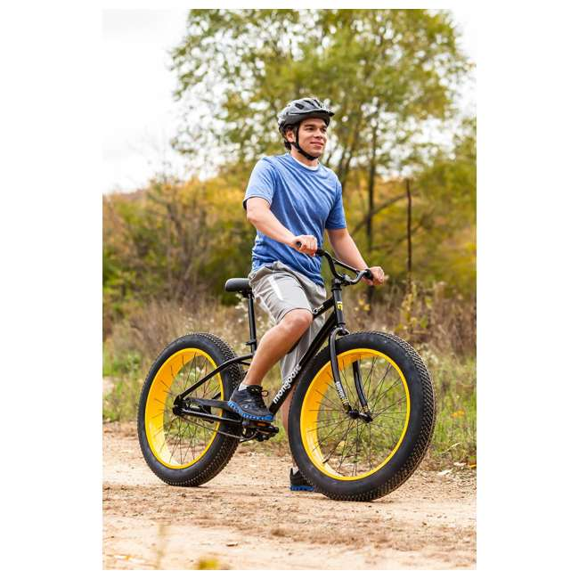 "R4140 + 102DN-R Mongoose 26"" Brutus Mens Alloy All Terrain Mountain Bike & 2 Bike Car Trunk Rack 7"