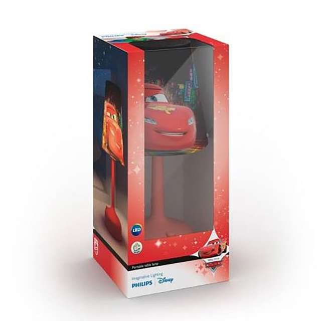 PLC-7179632U0 Philips Disney Cars Kids Table Lamp with Shade (2 Pack) 4