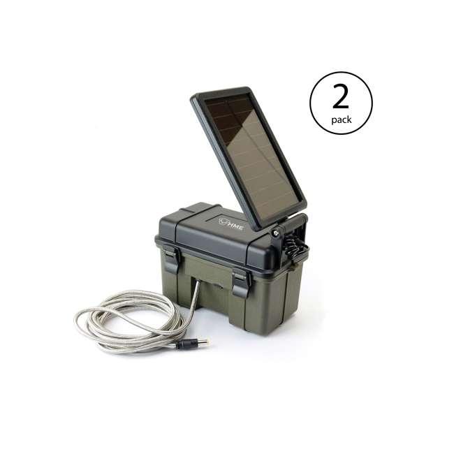 HME-12VBBSLR HME Waterproof 12-Volt Solar Power Pack (2 Pack)