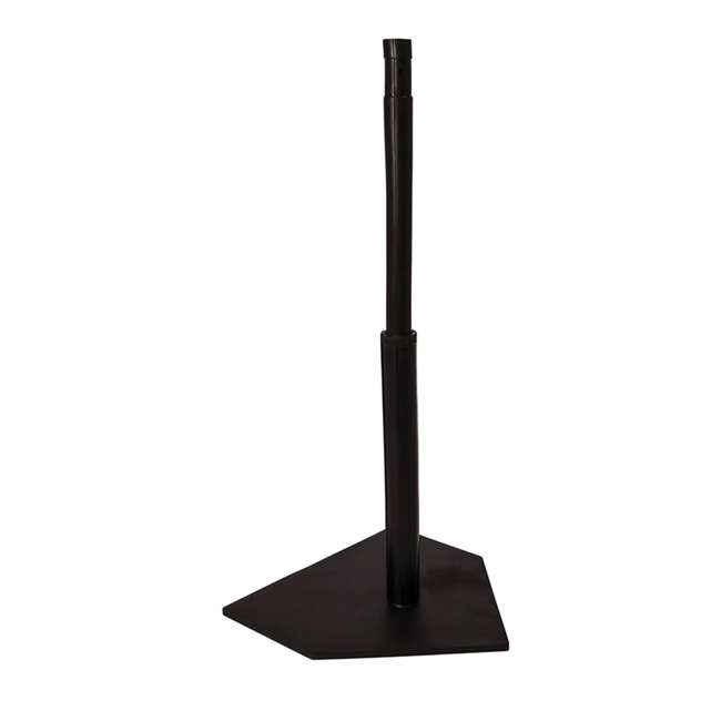 90 Champion Sports Height Adjustable Deluxe Baseball or Softball Batting Tee, Black