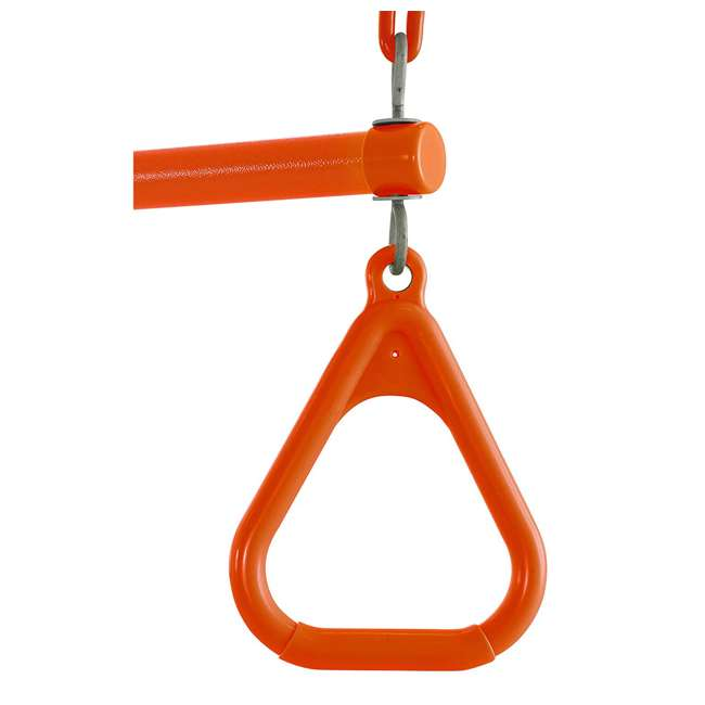 SWTSC-OR Swingan SWTSC-OR Fully Assembled Vinyl Coated Chain Trapeze Swing Bar, Orange 3