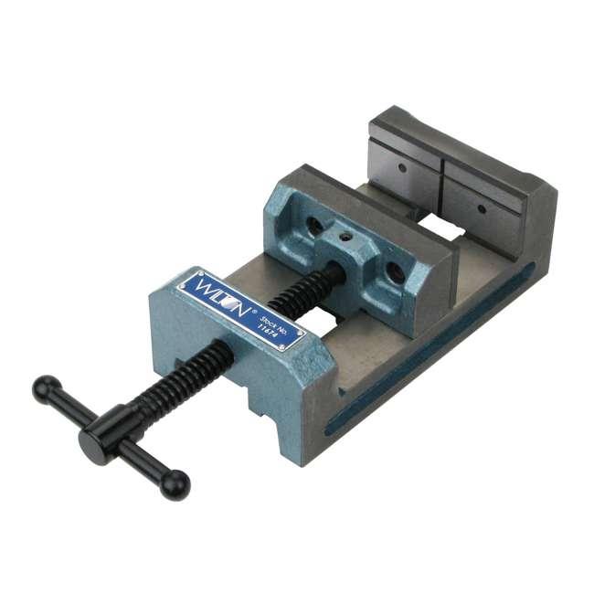 JPW-11674-U-A Wilton 4 In V Groove Jaw Steel Industrial Workbench Drill Press Vise (Open Box)