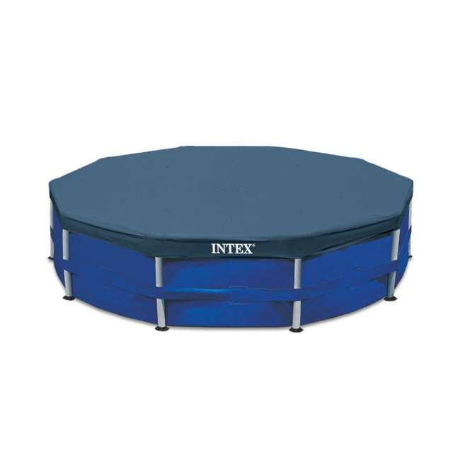 26701EH + 28030E Intex 10 Foot x 30 Inches Pool w/ 10-Foot Round Cover 9