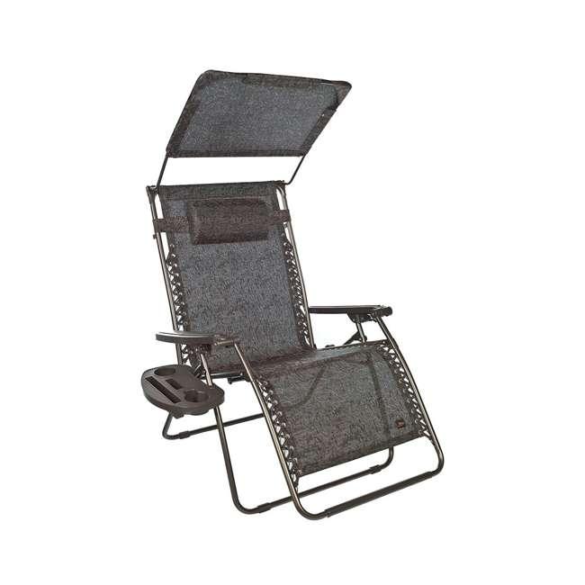 GXW-435BJr Bliss Hammocks 33 Inch XXL Zero Gravity Chair with Canopy, Brown Jacquard