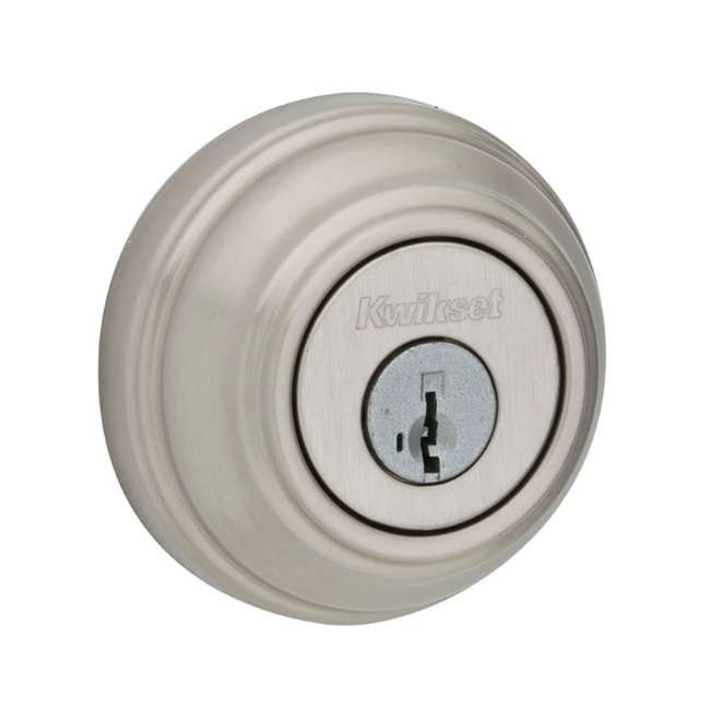 99850-058-U-A Kwikset 985 980 Series Double Cylinder Keyed Deadbolt, Satin Nickel (Open Box)
