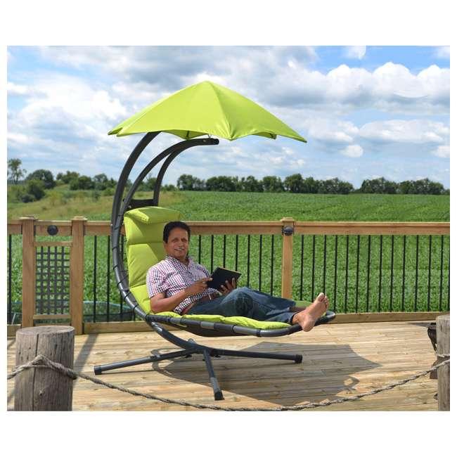 DREAM-GA Vivere The Original Dream Lounger Steel Backyard Patio Deck Chair, Green Apple 4