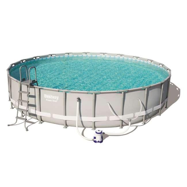 56392E-BW + 58422E-BW Bestway Power 22 x 4.3 Foot Swimming Pool w/ Pump & Filter & Bestway Pool Vacuum 1