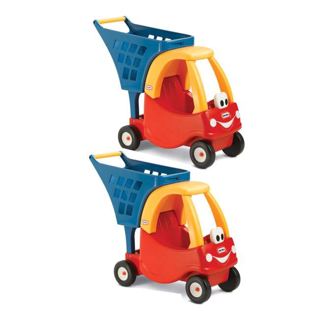 618338M Little Tikes Cozy Coupe Kids Grocery Shopping Cart, Red (2 Pack)