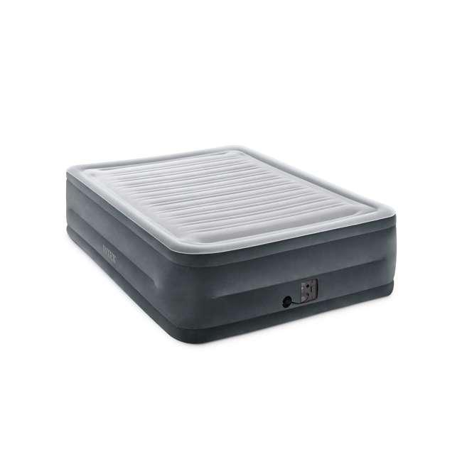 3 x 64417EP Intex High Rise Dura Beam Air Bed Mattress w/ Built-In Pump, Queen (3 Pack) 1