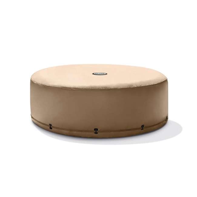28523E + 2 x 28505E + 2 x 28502E Intex PureSpa Hot Tub Cover w/ Foam Headrest (2 Pack) & Removable Seat (2 Pack) 1