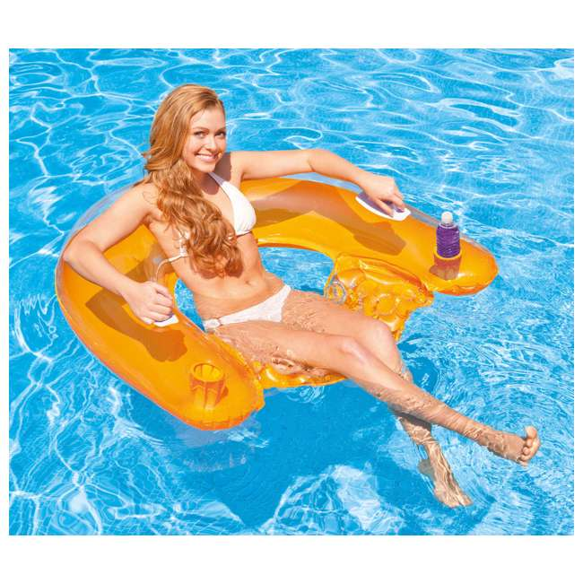 4 x 58859EP-U-A INTEX Sit'n Float Classic Inflatable Floating Raft Pool Tube  (Open Box) (4 Pack)