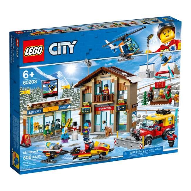 6283902 LEGO City 60203 Winter Ski Resort Building Kit 806 Pieces w/ 11 Minifigures 2