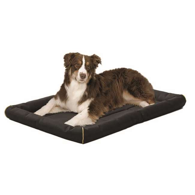 "40536-BK-U-B MidWest Home for Pets 36"" Maxx Ultra Dog Bed for Metal Crates, Black (Used) 1"
