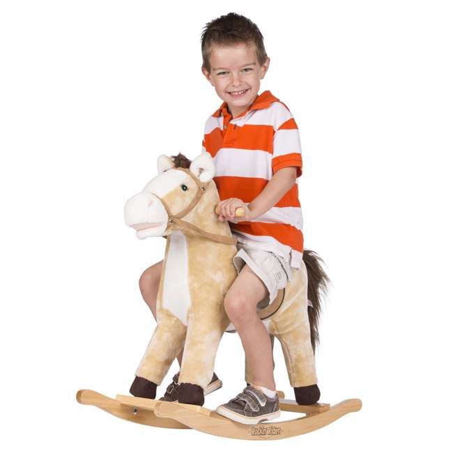 5-20401M-U-A Rockin' Rider Animated Toddler Toy Rocking Riding Sit On Plush Horse (Open Box) 4
