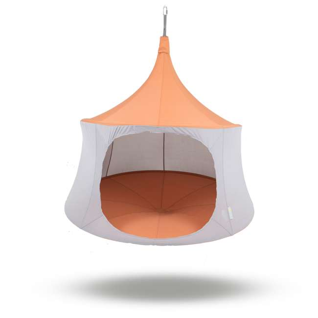 TP1600TC + BYHT9001 TreePod Cabana 6' Hanging Mesh Daybed Tent, Terracotta w/ Stand 2