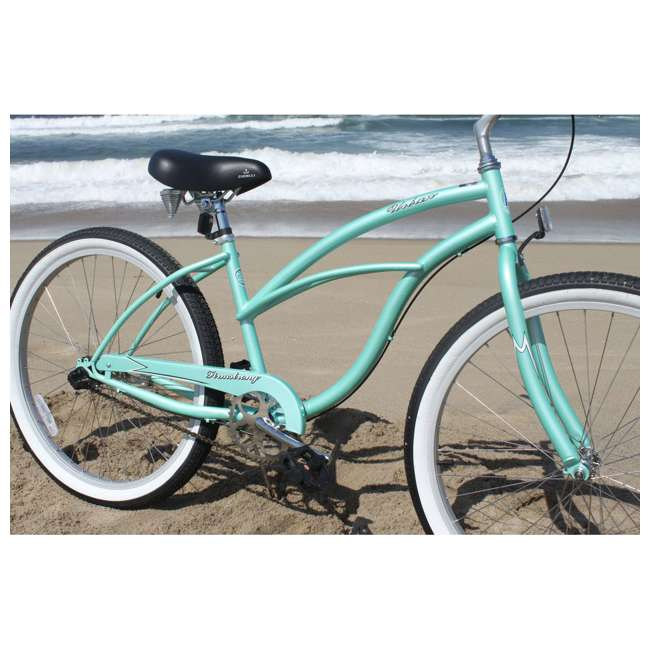 "14602-FM Firmstrong Urban Lady Women's 26"" 3-Speed Cruiser Bike, Mint 4"