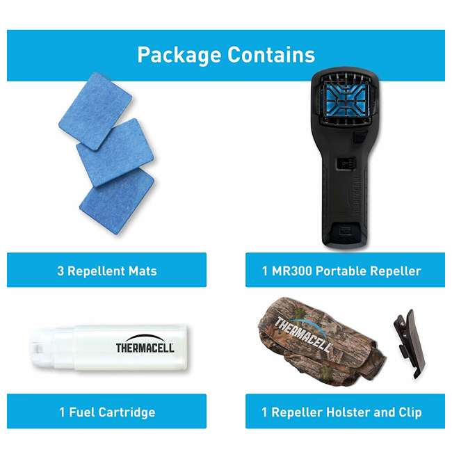 MR300F Thermacell MR300F Cordless Portable Mosquito Insect Bug Repellent with Holster 2