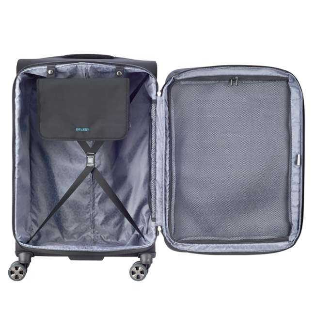 """40229182000 DELSEY Paris 25"""" Expandable Spinner Upright Hyperglide Luggage Suitcase, Black 2"""