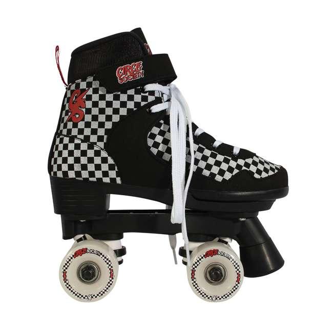 168221 Circle Society Street Checkered Kids Skates, Sizes 3 to 7 2