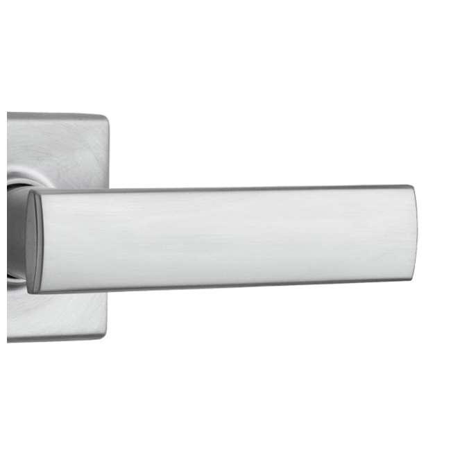 99740-003 Kwikset Vedani Hall Closet Passage Locking Door Handle Lever, Chrome 3