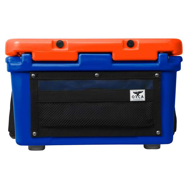 ORCBL/OR026 Orca Roto Molded 26 Quart 24 Can Insulated Ice Chest Cooler, Blue and Orange 4