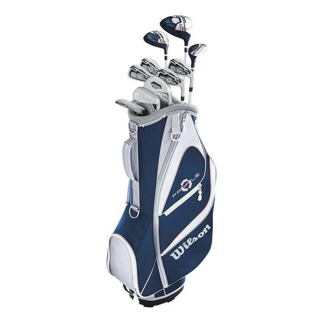 WGGC5900L Wilson Profile XD Women's Left Handed Golf Club Set w/ Cart Bag