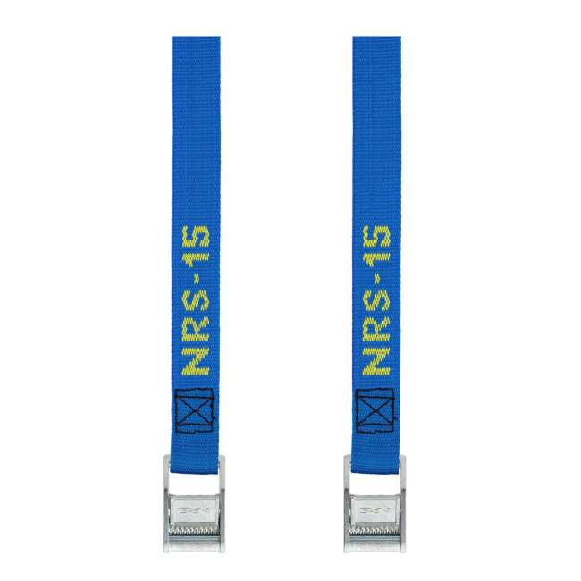 NRS_60001_01_107 NRS 1-Inch Long Heavy Duty Tie Down Strap, Blue (15 Feet) (2 Pack)
