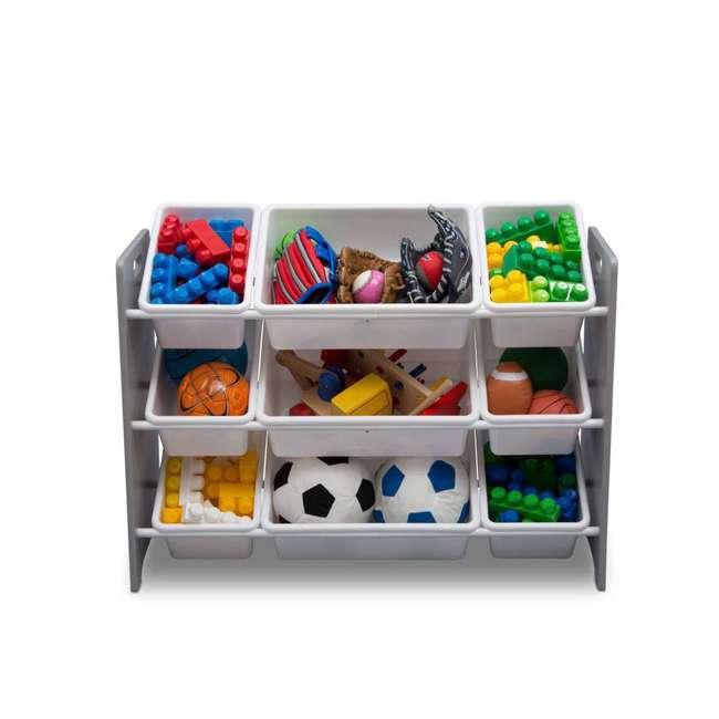 TB83461GN-026 Delta Children MySize Kids 9 Bin Plastic Toy Box Storage Organizer Shelves, Gray 1