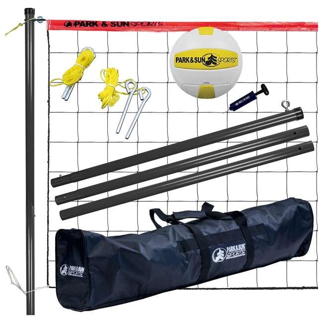 V-SPORT II/RD-U-A Park & Sun Volley Sport Steel Outdoor Volleyball Net Set (Open Box)