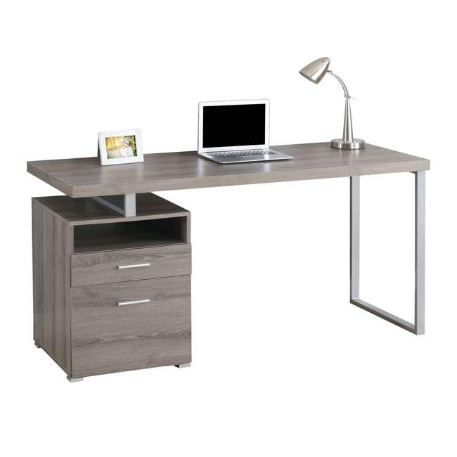 monarch 60 inch computer desk with filing drawer dark taupe ms vm7145. Black Bedroom Furniture Sets. Home Design Ideas