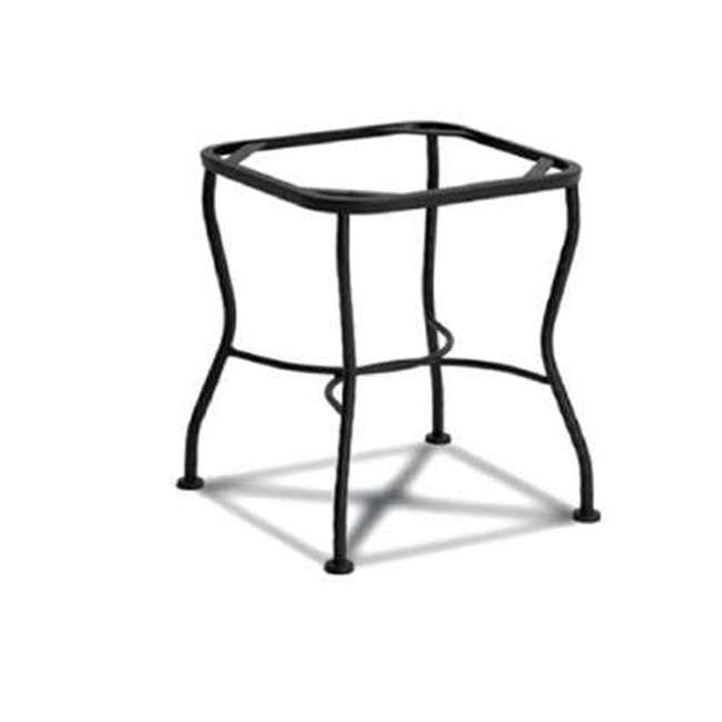 6712370-0105 + 7762499-0105 Meadowcraft Powder Coated Wrought Iron Patio End Table Base + 24 Inch Table Top 1