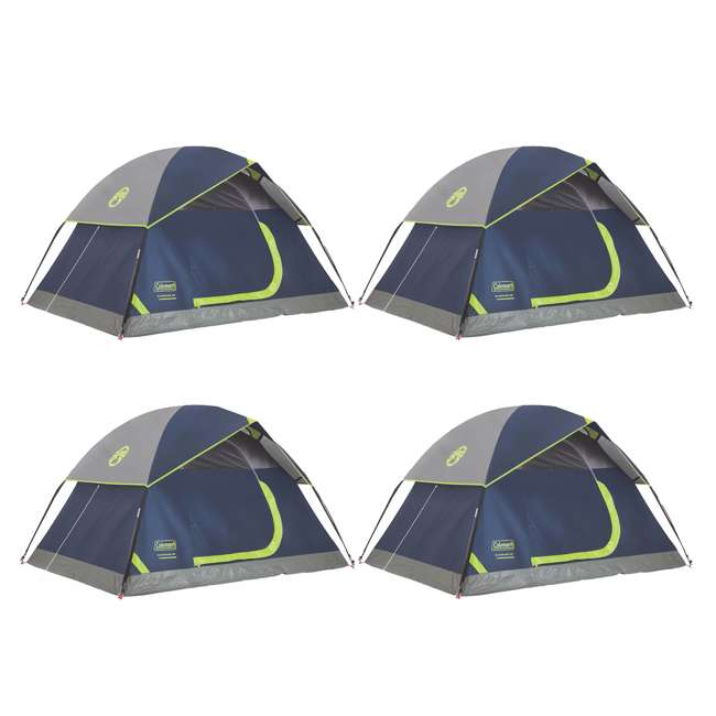 4 x 2000024579 Coleman Sundome 2 Person Tent (4 Pack)