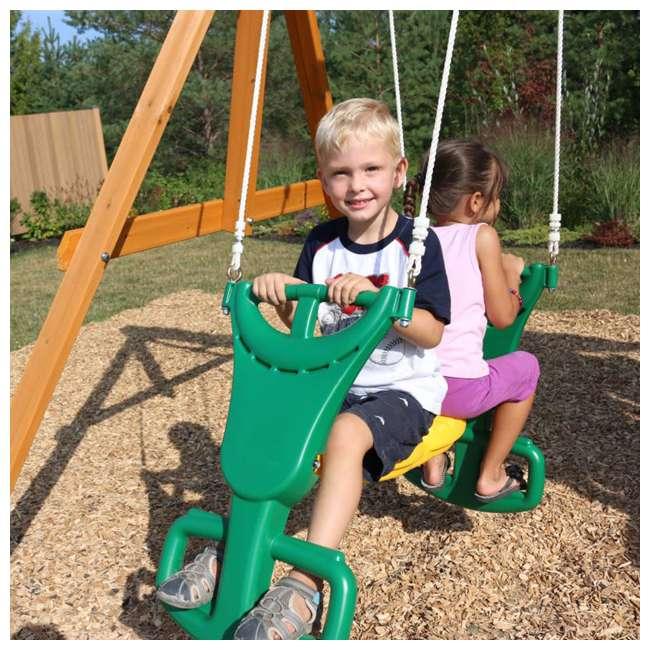 F23242 KidKraft F23235 Brookridge Childrens Wooden Outdoor Swing Set Playset Playground 5