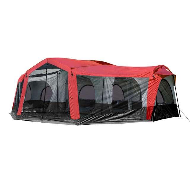 TGT-CARSON-18-B-U-A Tahoe Gear Carson 3 Season 14 Person 25x17.5' Family Cabin Tent, Red (Open Box) 1