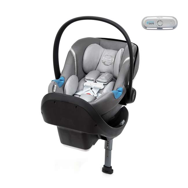 518002865 Cybex Aton M Infant Baby Car Seat & SafeLock Base w/ SensorSafe, Manhattan Gray