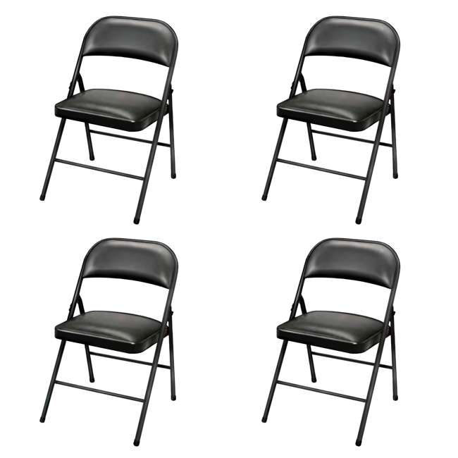 TGT8104PK Plastic Development Group Indoor Metal Padded Folding Party Chair (4 Pack)