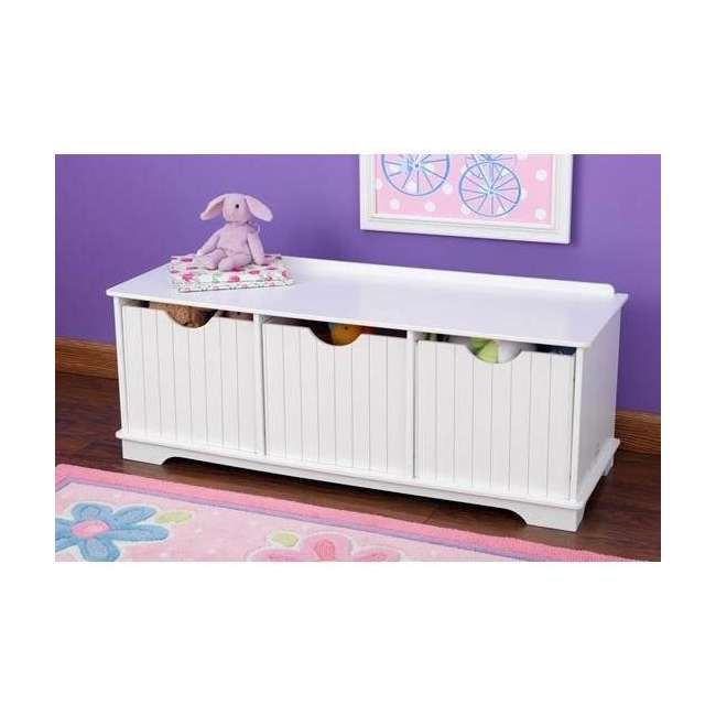 14564 KidKraft Nantucket Storage Bench - White