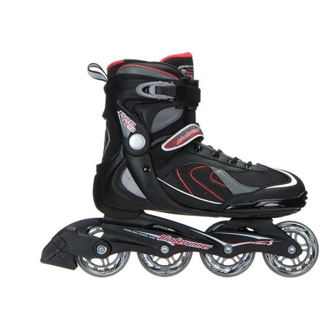 0T610600741-12 Bladerunner Pro 80 Mens Performance Inline Rollerblade Skates, Black and Red 2