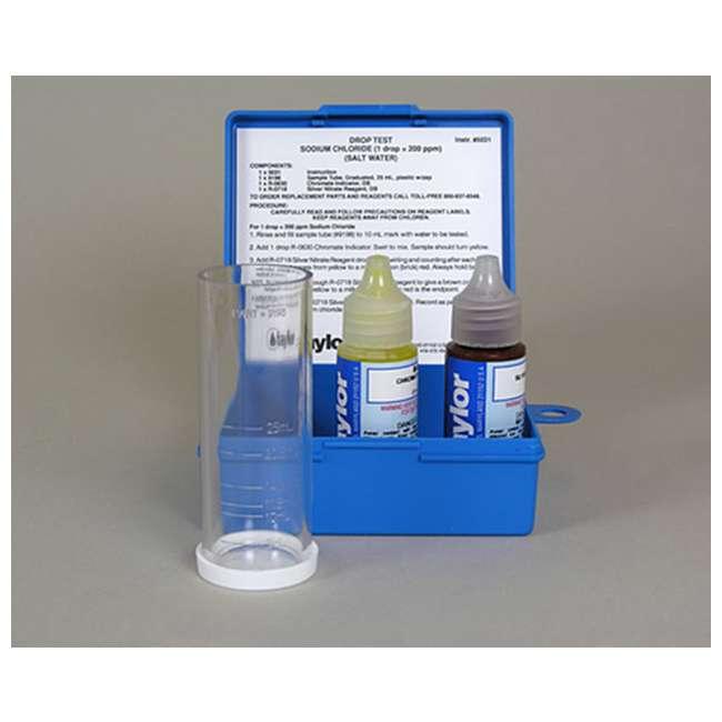 4 x K1766 Taylor K-1766 Sodium Chloride Drop Test Kit (4 Pack) 1