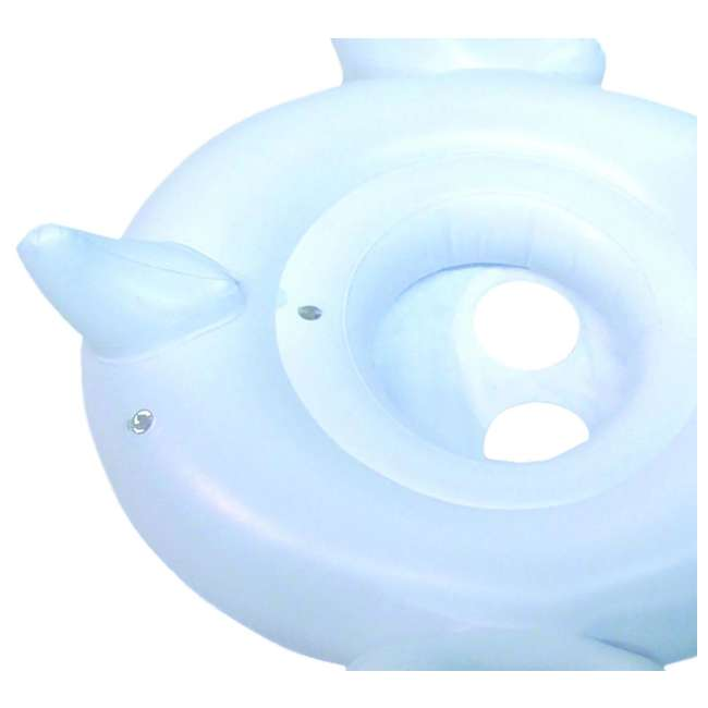 98400-U-A Swimline Inflatable Swan Swimming Pool Water Toy Seat Float (Open Box) (2 Pack) 4