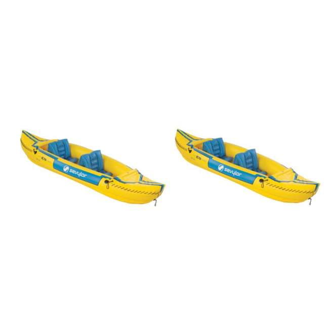2000003414 Sevylor Tahiti Classic Inflatable 2 Person Kayak Boats (Pair)