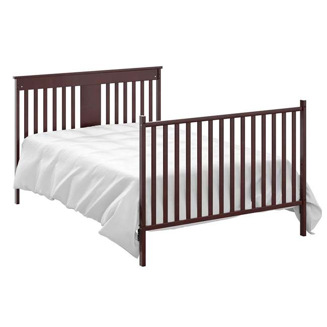 04510-359 + EM711-GJL1 Storkcraft Mission Ridge Bed, Espresso & Sealy Soybean Mattress 6