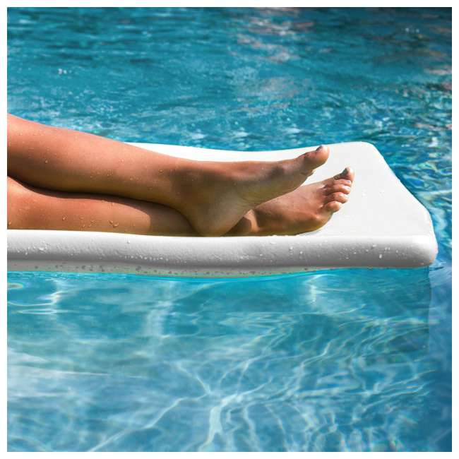 "6 x 8020004-U-A TRC Recreation Sunsation 70"" Foam Lounger Pool Float, White (Open Box) (6 Pack) 1"