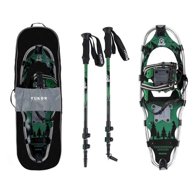 80-3002K-VM-U-b Yukon Charlie's 8x25 Inch Men's Snowshoe Kit with Aluminum Poles & Bag (Used) 5