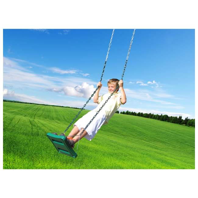 AJ104-500 Creative Playthings AJ104-500 Kids Playground Swing Set Stand 'N Swing w/ Chain 1