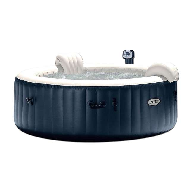 28409E + 28500E + 28501E Intex PureSpa 6 Person Outdoor Hot Tub with Headrest, Cup Holder and Drink Tray 1