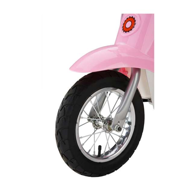 15130610 + 97783 Razor Pocket Mod Bella Electric Scooter & Youth Helmet (Pink) 4
