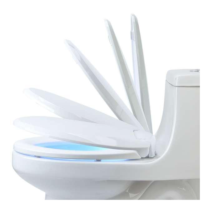 L60-EB Brondell LumaWarm Heated Nightlight Toilet Seat, Biscuit 5