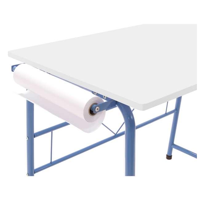 38022 Studio Designs Homeroom 2 Piece Art Table & Bench Set w/ Paper Roll, Blue/White 4