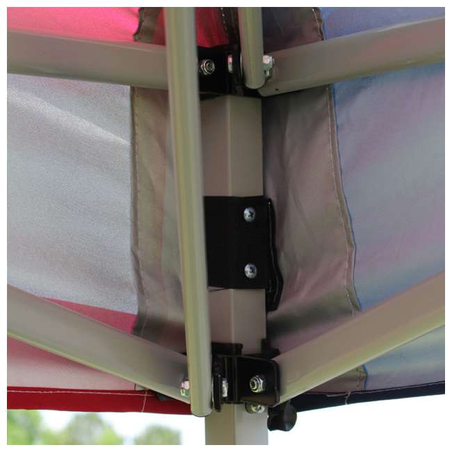 SLANT10-WH King Canopy 10 x 10-Foot 4 Leg Slanted Canopy, White 2